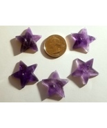 Small Amethyst Star Cabochons Lot of 5 - $29.99