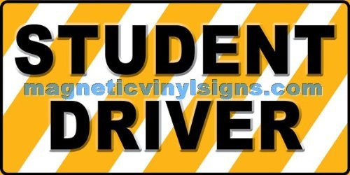 "Student Driver 12""x24"" Vehicle Magnetic Sign - 1 PC"