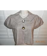 Cute B Wear Byer California size small plaid Shrug jacket Top cap sleeves - $15.35