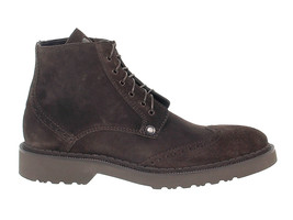 Low boot CESARE PACIOTTI 56308 in dark brown suede leather - Men's Shoes - $241.68