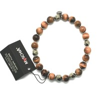 Bracelet 925 Silver Hematite Tiger's Eye BBUS-5 Made In Italy By Maschia - $57.24