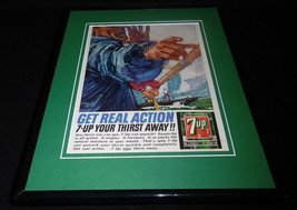 1964 Seven Up 7 Up / Boating 11x14 Framed ORIGINAL Vintage Advertisement - $41.71