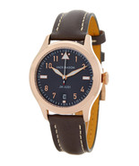 Jack Mason Aviation BROWN Leather Strap Rose Gold 36mm Women's Mens Watc... - $140.53