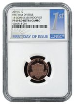 2015 S Lincoln Union Shield Penny NGC PF69 RD UC 1st Day Issue Buy 4 get... - $8.00