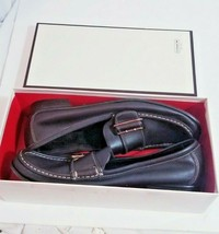 Vintage Coach Helene leather loafers size 9.5 M  in box Mahogany leather silver - $122.50