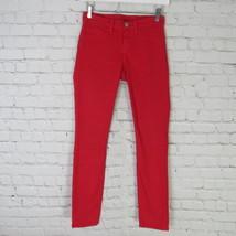 J Brand Jeans Pants Womens 24 Red Skinny Leg C04  image 2