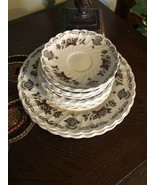 Lot set 15 MYOTTS BOUQUET Plates And Saucers Made In Staffordshire England - $30.39