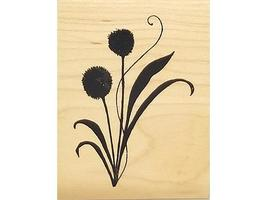 Great Impressions Flower Rubber Stamp #F409