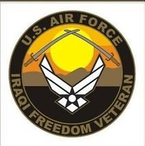 AIR FORCE USAF IRAQI FREEDOM VETERAN MILITARY CAR DECAL - $13.53