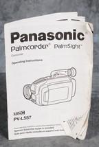 Panasonic PalmSight PV-L557 Operating Instructions Manual - $4.00