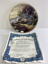 Thomas Kinkade Simpler Times AUGUST A NEW DAY DAWNING  COA Plate No 19534B - $17.95