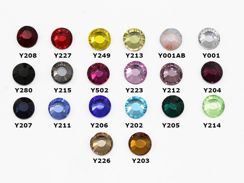 6mm SS30 Crystal AB Y001AB Hotfix Rhinestones (2 Gross)-288 Pieces