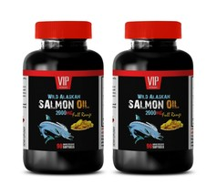 reduce risk of heart disease, WILD SALMON OIL 2000mg, anti aging supplem... - $28.01
