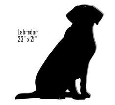 Labrador Retriever Black Laser Cut Out Reproduction Sign 21x23 - $25.74