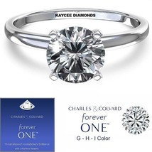 NEW! 1.50 Carat Moissanite Forever One Solitaire Ring (Charles & Colvard)  - $495.00