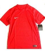 Nike Boys Youth Red Soccer Shirt Red Short Sleeve Medium  - $13.49