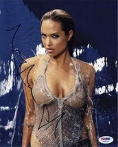 Angelina Jolie Sexy Wet Cleavage Signed 8x10 Photo Certified Authentic PSA/DNA C - $267.29