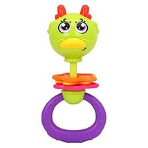 2 Pcs Creative Dragon Cartoon Baby Toys Plastic Rattles Hand Bell