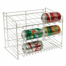 3 Tier Can Cans Rack Organizer Storage Holder Stand Steel Cabinet Shelf NEW - $39.45