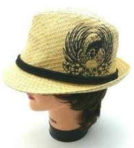 Explicit Hat Men's  Women's  Unisex Black & Straw Fedora Skull  Goth Pun... - $8.98