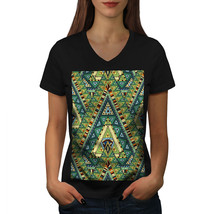 Spirit Pattern Shirt Colorful Women V-Neck T-shirt - $12.99+