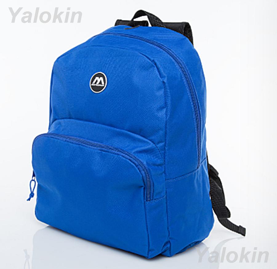 NEW Blue Lightweight Unisex Compact Size Fashion Backpack Shoulder Book Bag