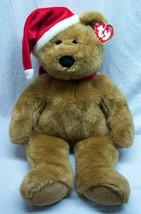 "TY Beanie Buddy LARGE 1997 HOLIDAY TEDDY BEAR 22"" Plush STUFFED ANIMAL Toy - $39.60"