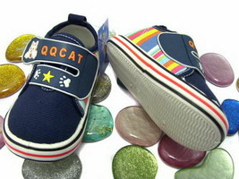 Toddler Boys QQ Navy Cat shoes Size 5,6 or 7 New - $5.00