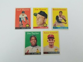 1958 Topps Baseball Cards Lot of 5 #309,345,392,451,474 Vg-Ex Tigers Cards  - $13.54