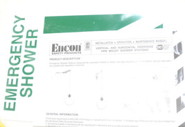 ENCON 1054003 EMERGENCY VERTICAL AND HORIZONTAL OVERHEAD PIPE MOUNT SHOWER image 2