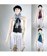 100% Cotton Ink Casual Tear Drop Fringe Multi Color Fashion Comfort Warm - $8.99