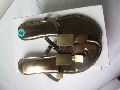 Primary image for COCONUTS Women Metallic Brass Thong / Sandals 8M New