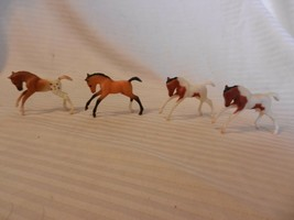 Set of 4 Breyer Stablemates Bucking Head Down Colts Mixed Colors - $29.70