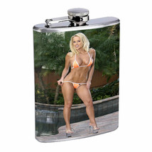 Colorado Pin Up Girls D14 Flask 8oz Stainless Steel Hip Drinking Whiskey - $12.82