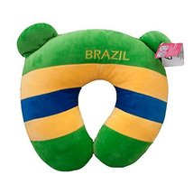 George Jimmy Decorative U-Shaped Pillow Flag Design Neck Pillows-Brazil - $30.14