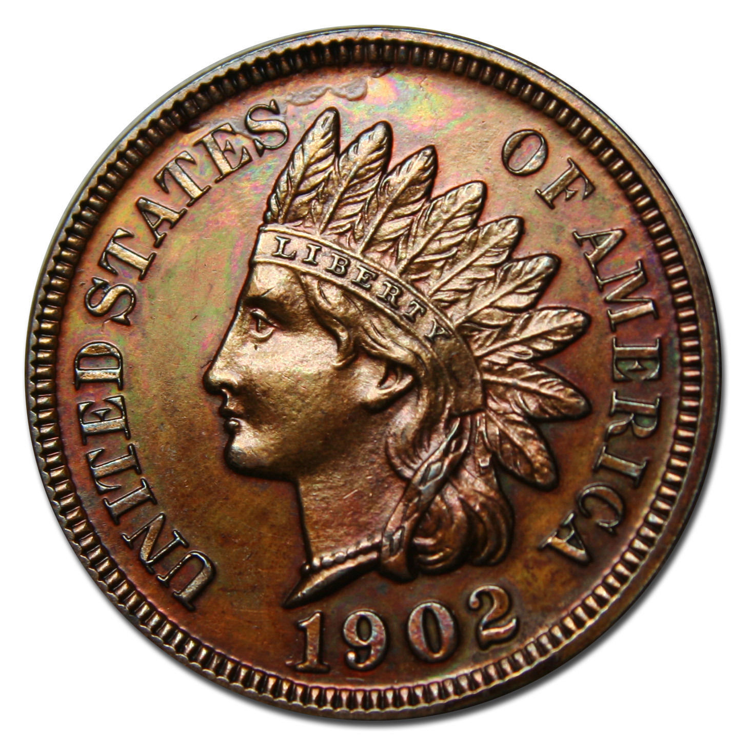 1902 Proof One Cent Indian Head Penny Coin Lot# MZ 3748