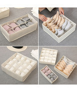1pc Multi-functional Underwear Storage Folding Box Washable Grids Organize - $18.10