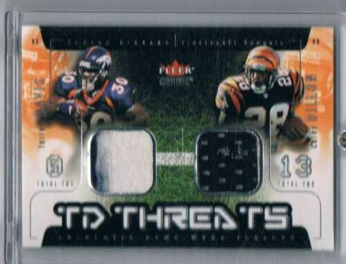 2002 Genuine TD Threats Jerseys #16 Corey Dillon/Terrell Davis NM-MT NM-MT MEM B