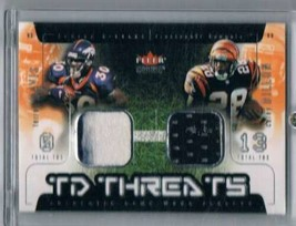 2002 Genuine TD Threats Jerseys #16 Corey Dillon/Terrell Davis NM-MT NM-... - $14.80