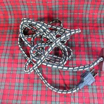 VINTAGE CLOTH COVERED ELECTRICAL APPLIANCE CORD WITH 2 PRONGED PLUG - $10.39