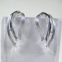 Sarah Coventry Earrings Dangle Clip On Silvertone Ear Rings Metal Vintage - $19.79