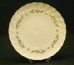 """Vintage Rosemont by Lenox 10-1/2"""" Dinner Plate Platinum Roses Leaves Swirl Edge - $34.64"""