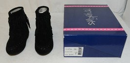 I Love Yo Kids AVA 92T Girls Fringe Boot Black Zip Up Size Eight image 1