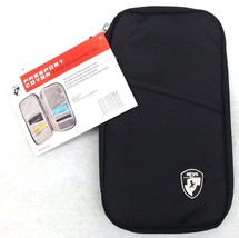 Heys Passport Cover D1217 New Travel Documents Case Multiple Pockets Tri... - $10.62