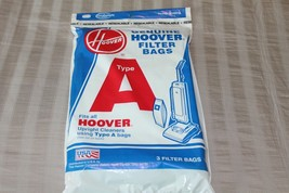Genuine Hoover Filter Bags 3 Bags Fit All Hoover Upright Cleaners using Type A - $5.00