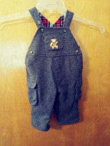 Boys Childrens Place Grey Wool Blend Lined Overall/Cargo Pants 3-6 Mos. Euc - $12.37