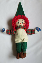 RAGGEDY ANN Plush Doll Elf Applause Apron Christmas Theme Hat Slippers - $39.59