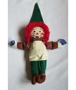 RAGGEDY ANN Plush Doll Elf Applause Apron Christmas Theme Hat Slippers - $39.59