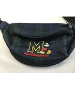 Walt Disney World Vtg 90s Mickey Mouse Embroidered Patch Fanny Pack Pouc... - $18.69