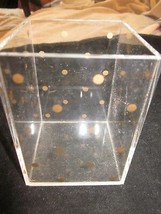 ACRYLIC CLEAR AND GOLD DOT PENCIL AND PEN HOLDER USED - €8,94 EUR